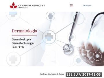 Zrzut strony Dermatolog dr Lidia Rajzer Kraków
