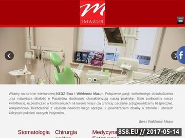 Zrzut strony NZOZ Ewa i Waldemar Mazur - Stomatologia, Ortodoncja, Chirurgia, Botox