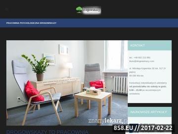 Zrzut strony Pracownia psychologiczna Warszawa