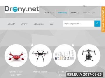 Zrzut strony Dji sklep - drony