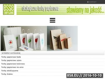 Zrzut strony Torebki reklamowe z nadrukiem
