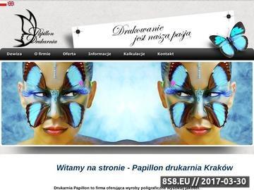 Zrzut strony Drukarnia, drukarnie Kraków - Papillon