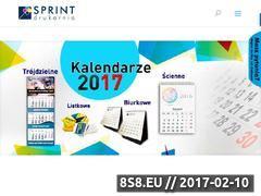 Miniaturka domeny www.drukarniasprint.com.pl