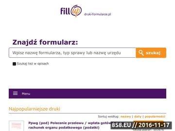 Zrzut strony Wzory pism urzędowych, druki podatkowe i formularze ZUS