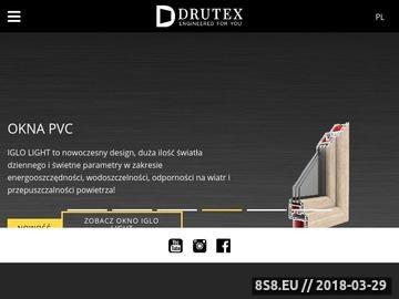 Zrzut strony DRUTEX SA | okna pvc, pcv, pwc, okna drewniane, aluminiowe, drzwi pvc, rolety