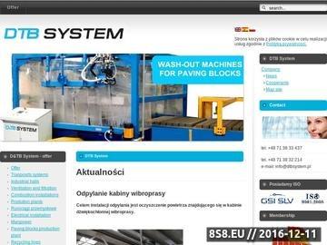 Zrzut strony D&TB System - producent maszyn i urządzeń