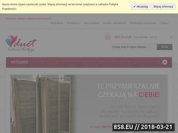 Zrzut strony Duetsklep.pl - bielizna damska