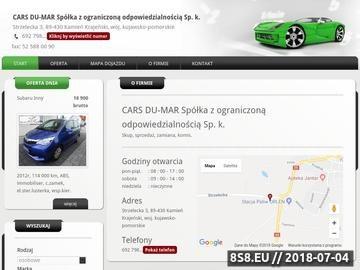 Zrzut strony CARS DU-MAR autokomis