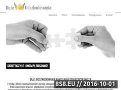 Miniaturka domeny www.duzeodszkodowania.com