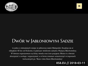 Zrzut strony Dwór w Grzymałowie - wesela, bankiety, spotkania, przyjęcia, catering