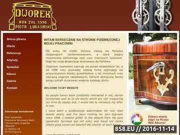 Zrzut strony Dworek - Renowacja mebli i konserwacja zegarów