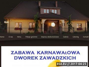 Zrzut strony Dworek Zawadzkich - przyjęcia Kruszyn