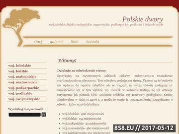 Zrzut strony Rezydencje magnackie i dwory szlacheckie w Polsce - dwory.cal.pl