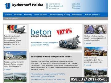 Zrzut strony Dyckerhoff Polska sp. z o.o. materiały budowlane