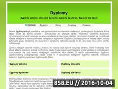 Miniaturka domeny www.dyplomy.edu.pl
