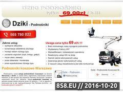 Miniaturka Podnośniki koszowe - wynajem Warszawa - Dziki (www.dziki-podnosniki.pl)