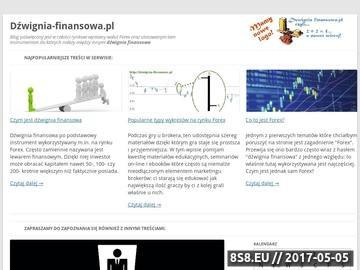 Zrzut strony Blog poświęcony giełdzie Forex