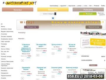 Zrzut strony Antykwariat książki e-antykwariat.net