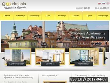 Zrzut strony Noclegi w centrum Warszawy