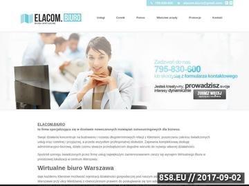 Zrzut strony Adres dla firmy Warszawa