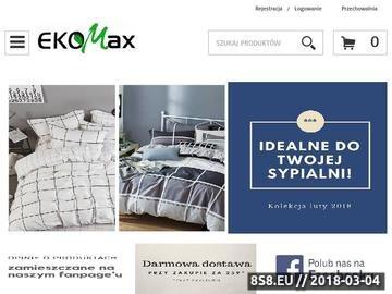 Zrzut strony Sklep EKOMAX - pościele, prześcieradła i poszewki