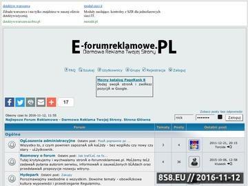 Zrzut strony Forum Reklamowe - Darmowa reklama Twojej strony na forum