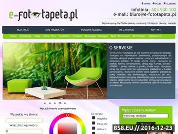 Zrzut strony Fototapeta