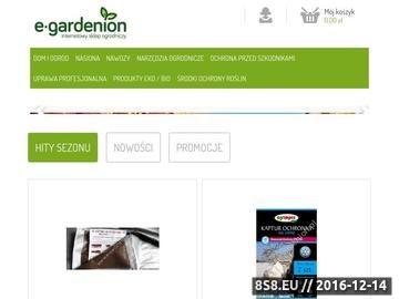 Zrzut strony Hurtownia ogrodnicza E-Gardenion.pl