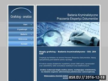 Zrzut strony Grafolog, badanie pisma