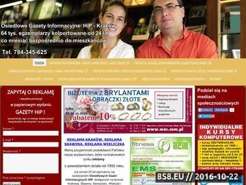 Zrzut strony Gazeta Osiedlowa HIP - ogłoszenia Kraków, Skawina oraz Wieliczka