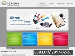 Miniaturka domeny www.e-kredka.pl