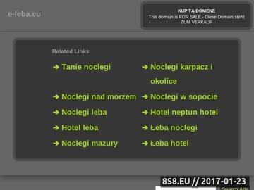 Zrzut strony Wczasy w Łebie - katalog ofert nad morzem