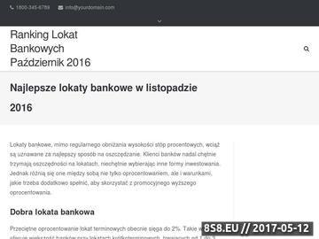 Zrzut strony Najkorzystniejsze lokaty bankowe