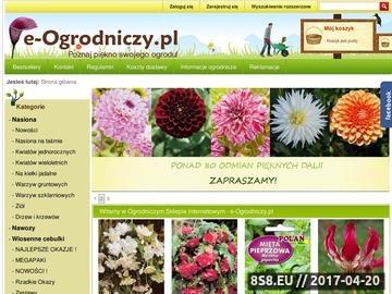 Zrzut strony E-Ogrodniczy.pl - cebule i cebulki kwiatowe