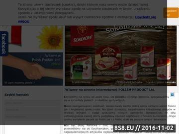 Zrzut strony Polskie produkty w UK