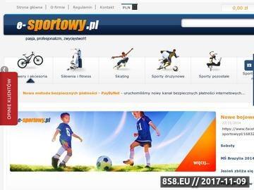 Zrzut strony Twój internetowy sklep sportowy