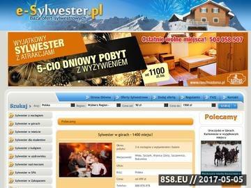 Zrzut strony Baza ofert sylwestrowych - e-sylwester.pl