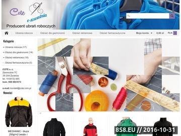 Zrzut strony Szycie i haftowanie odzieży