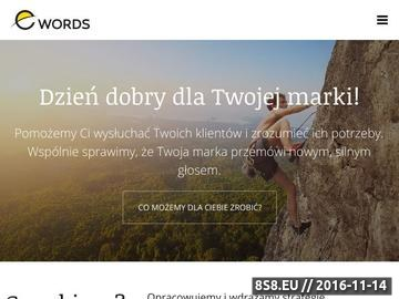 Zrzut strony Baza wiedzy o copywritingu - agencja reklamowa e-words