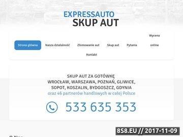 Zrzut strony Skup aut Poznań