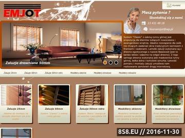 Zrzut strony Emjot - żaluzje poziome drewniane i moskitiery