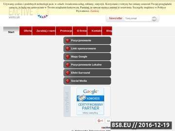Zrzut strony Pozycjonowanie stron www - najskuteczniejszą formą promocji w Internecie