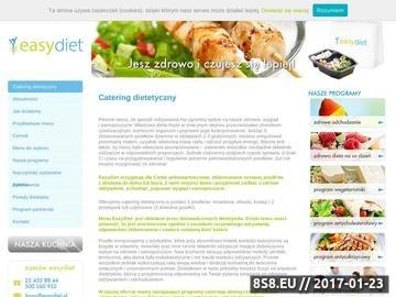 Zrzut strony EasyDiet - catering dietetyczny z dostawą do Twojego domu i biura.