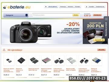 Zrzut strony Baterie do laptopów - sklep