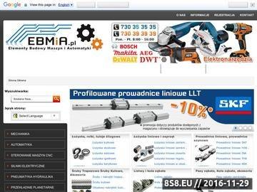 Zrzut strony EBMiA - sterowanie maszyn CNC