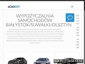 Zrzut strony Wypożyczalnia aut eCarent