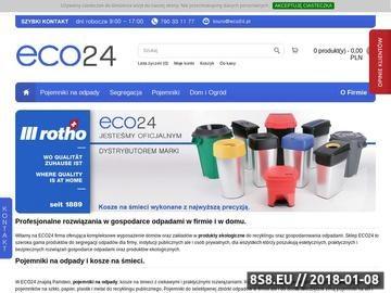 Zrzut strony Pojemniki na odpady ECO24