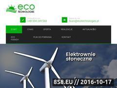 Miniaturka domeny www.ecotechnologies.pl