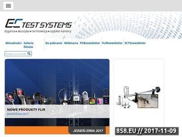 Zrzut strony EC Test Systems pomiary