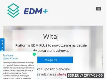 Zrzut strony Elektroniczna dokumentacja medyczna - EDM Plus